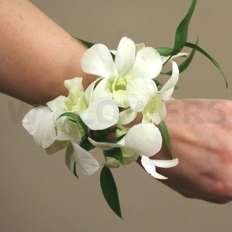 White dendrobium orchid wrist corsage dg dubon white dendrobium orchid wrist corsage mightylinksfo