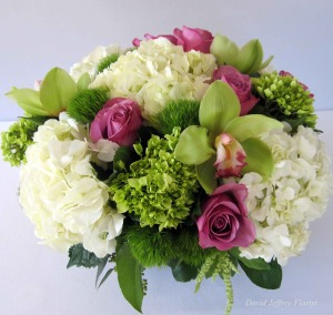 white-hyd.-green-hyd,-purple-roses,-green-cybidium-$95-&-up